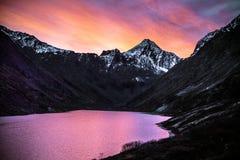 Lever de soleil au-dessus d'Eagle Lake images libres de droits