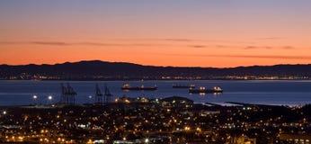 Lever de soleil au-dessus de Baie de San Franciso Image stock