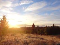Lever de soleil au-dessus de Blanchard Creek Photographie stock