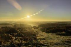 Lever de soleil au-dessus de Bradgate Photo libre de droits