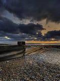 Lever de soleil au-dessus de canal de Douvres Photos libres de droits