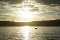 Lever de soleil au-dessus de fjord de Drammens Image libre de droits