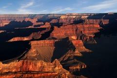 Lever de soleil au-dessus de gorge grande Photo libre de droits