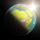 Lever de soleil au-dessus de l'Afrique illustration stock