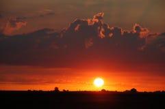 Lever de soleil au-dessus de l'Illinois Images libres de droits