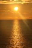 Lever de soleil au-dessus de l'océan 5 Images libres de droits