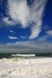 Lever de soleil au-dessus de l'océan Images libres de droits