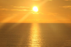 Lever de soleil au-dessus de l'océan 12 Image libre de droits