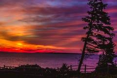 Lever de soleil au-dessus de l'Océan Atlantique Photo libre de droits