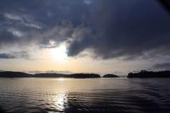 Lever de soleil au-dessus de la baie 1 de Swartz Photo stock