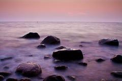 Lever de soleil au-dessus de la mer Photographie stock