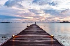 Lever de soleil au-dessus de la mer d'Andaman Photo stock