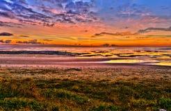 Lever de soleil au-dessus de la Mer du Nord Photographie stock