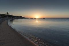 Lever de soleil au-dessus de la Mer Rouge de Hurghada Photo libre de droits