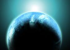 Lever de soleil au-dessus de la terre Photo libre de droits