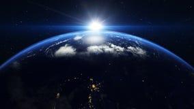 Lever de soleil au-dessus de la terre clips vidéos