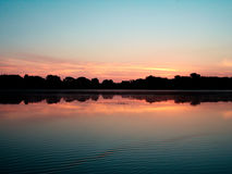 Lever de soleil au-dessus de lac saint name Photo libre de droits