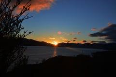 Lever de soleil au-dessus de les montagnes écossaises Photos libres de droits