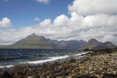 Lever de soleil au-dessus de loch écossais Photographie stock libre de droits