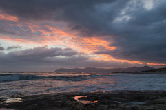 Lever de soleil au-dessus de Majorque du nord-est photo libre de droits
