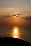 Lever de soleil au-dessus de mer Photos libres de droits