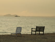 Lever de soleil au-dessus de mer de sud de la Chine Photos libres de droits