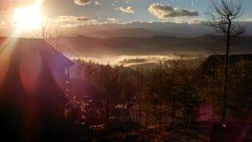 Lever de soleil au-dessus de Skokie Photographie stock libre de droits