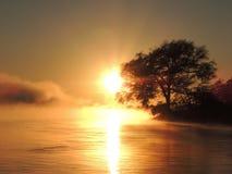Lever de soleil au-dessus de Zambezi Photographie stock libre de droits