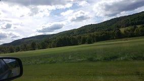 Lever de soleil au-dessus des montagnes Images libres de droits