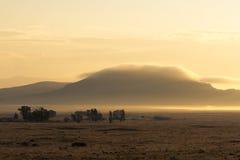 Lever de soleil au-dessus des montagnes près de Westcliffe, le Colorado Image libre de droits