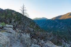 Lever de soleil au-dessus des Rois Canyon Photos stock