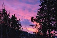 Lever de soleil au-dessus du lac Tahoe images libres de droits