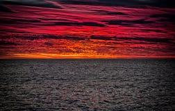 Lever de soleil au-dessus du Pacifique Images stock