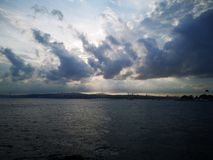 Lever de soleil au-dessus de l'Asie photo stock