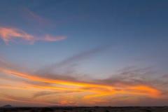 Lever de soleil au-dessus de la Mer Rouge photos stock