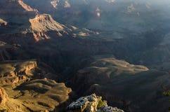 Lever de soleil au-dessus de Mather Point, parc national de Grand Canyon photographie stock