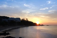 Lever de soleil au-dessus de mer Photo libre de droits