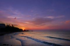 Lever de soleil au-dessus de mer Image libre de droits