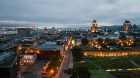 Lever de soleil au-dessus de Québec Image libre de droits