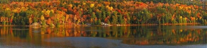 Lever de soleil au lac george Image stock