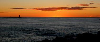Lever de soleil au Maine Images stock