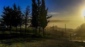 Lever de soleil au mytilene Photo libre de droits