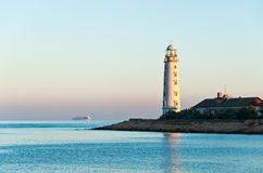 Lever de soleil au phare de Khersones Images stock