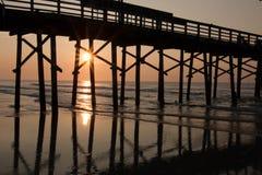 Lever de soleil au pilier Photos libres de droits