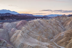 Lever de soleil au point de Zabriskie en parc national de Death Valley, la Californie, Etats-Unis Images libres de droits
