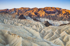Lever de soleil au point de Zabriskie en parc national de Death Valley, la Californie, Etats-Unis Photos libres de droits