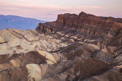 Lever de soleil au point de Zabriskie en parc national de Death Valley, la Californie, Etats-Unis Photo libre de droits