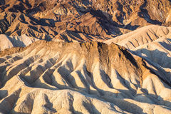 Lever de soleil au point de Zabriskie en parc national de Death Valley, la Californie, Etats-Unis Image libre de droits