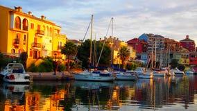 Lever de soleil au port Sapalya, Valence, Espagne images libres de droits