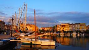 Lever de soleil au port Sapalya, Valence, Espagne photos libres de droits